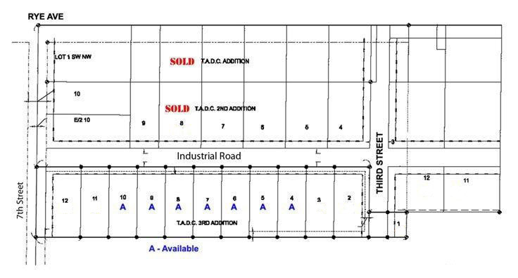 Templeton Iowa Map.Business Park Map Available Lots Templeton Iowa